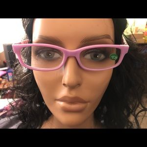 Pair of Purple Print Reading Glasses +2.75